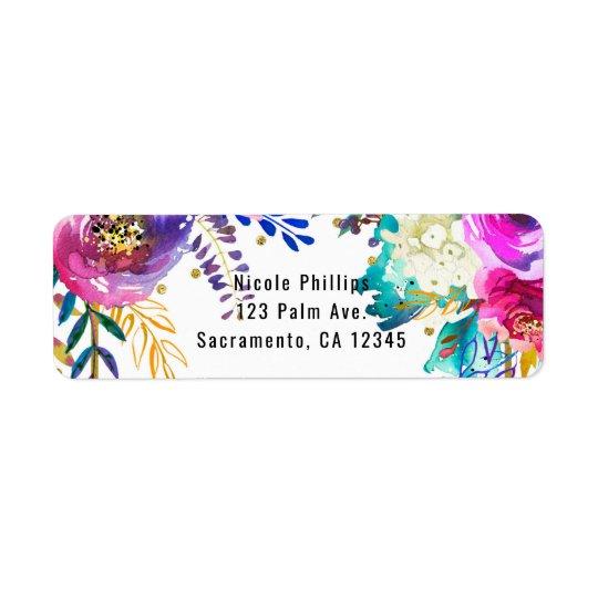 Fun Bright Bold Watercolor Floral Glam Elegant
