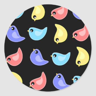 Fun bright colorful birds pattern sticker