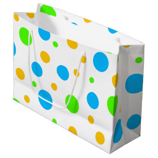 Fun Bright Dots Large Gift Bag