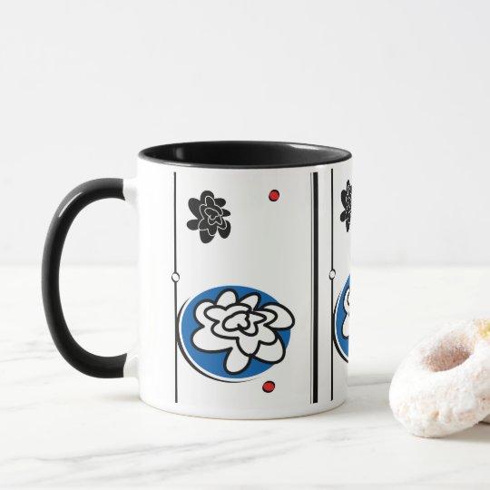 fun bright flower coffee mug