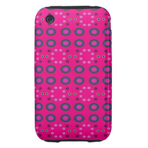 Fun Bright Pink Dots iPhone 3 Tough Cover