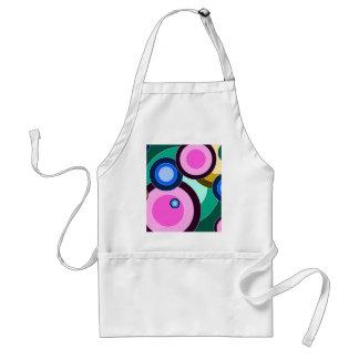 Fun & Bright Retro Circles Pattern Aprons