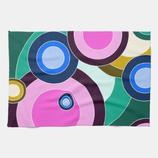 Fun & Bright Retro Circles Pattern Towel