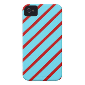 Fun Bright Teal Turquoise Red Diagonal Stripes Case-Mate iPhone 4 Case