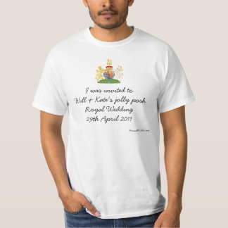 Fun British Royal Wedding souvenir top