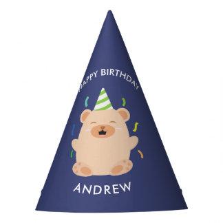 Fun Brown Bear Kids Birthday Party Hat
