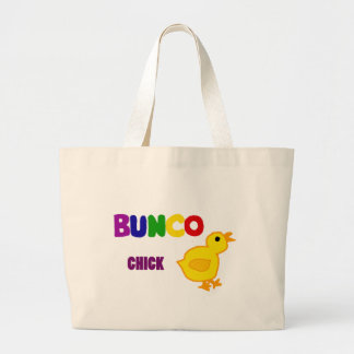 Fun Bunco Chick Art Jumbo Tote Bag