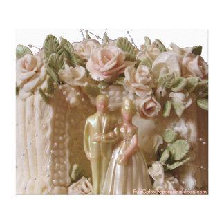 Fun Cake Decorating Ideas - Wedding Cake print Canvas Prints