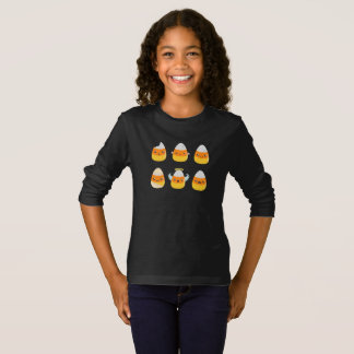 Fun Candy Corn Emojis Kids Long Sleeve T-shirt