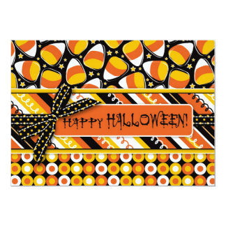 Fun Candy Corn Halloween colors 13 Cm X 18 Cm Invitation Card