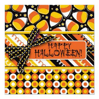 Fun Candy Corn Halloween colors Card