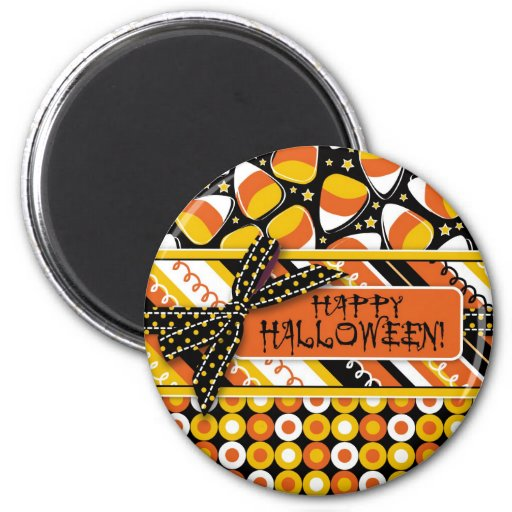 Fun Candy Corn Halloween colors Magnets