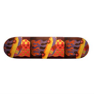 Fun car design 21.6 cm old school skateboard deck
