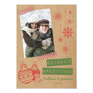 Fun Cardboard Candy Tape Holiday Flat Card 13 Cm X 18 Cm Invitation Card