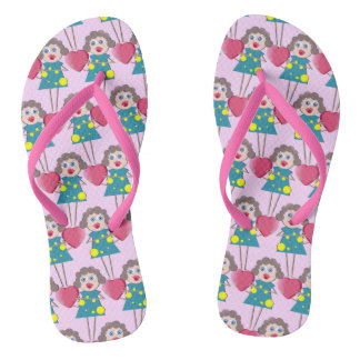 Fun Cartoon Girl Pattern Flip Flops