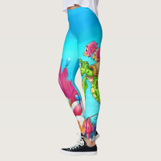 Fun cartoon legging with fish