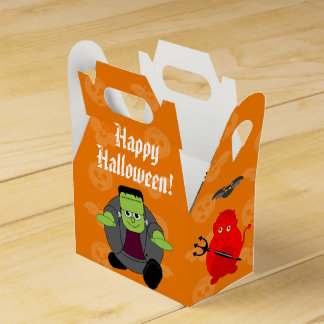 Fun cartoon of a group of Halloween monsters, Favour Box