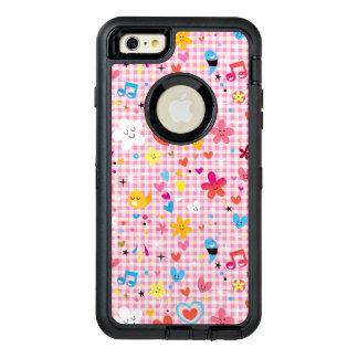 fun cartoon pattern pink OtterBox defender iPhone case