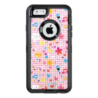 fun cartoon pattern pink OtterBox iPhone 6/6s case