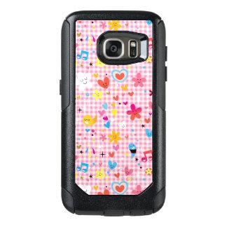 fun cartoon pattern pink OtterBox samsung galaxy s7 case