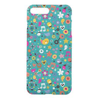 fun cartoon pattern teal iPhone 8 plus/7 plus case