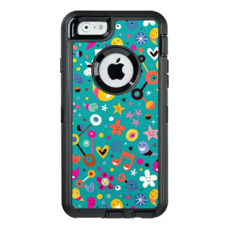 fun cartoon pattern teal OtterBox iPhone 6/6s case