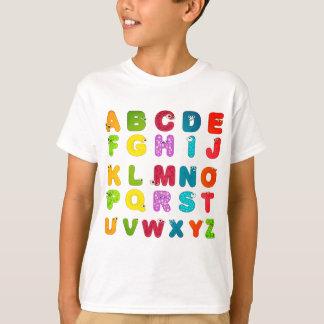 Fun Cartoon Picture Letters Alphabet T-Shirt