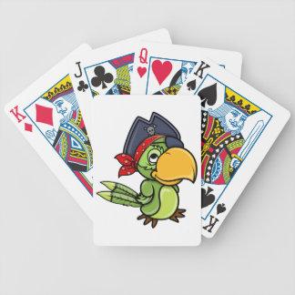 Fun Cartoon Pirate Parrot Bicycle Playing Cards
