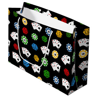 Fun Casino gambling pattern party gift bag