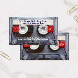 Fun Cassette Tape Business Card
