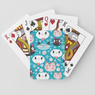 Fun Cat Faces Playing Cards