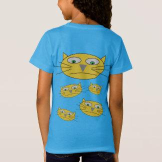 Fun Cat Heads Drawing T-Shirt