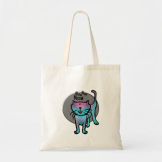 Fun cat illustration meow meow meow bag