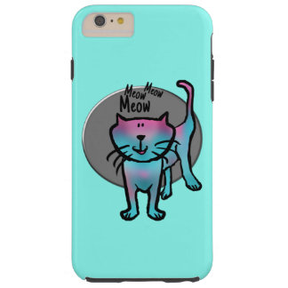 Fun cat illustration meow meow meow text phone cas tough iPhone 6 plus case