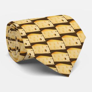 Fun Cheese pattern food tie
