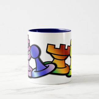 Fun Chess Two-Tone Coffee Mug