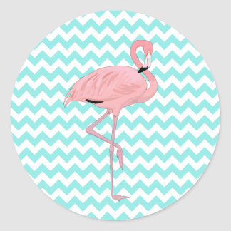 Fun Chevron & Flamingo Stickers