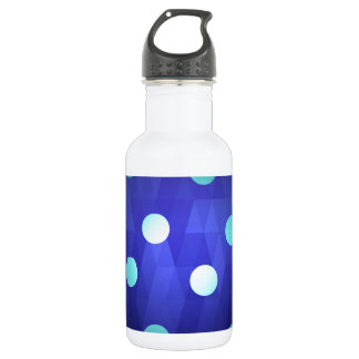Fun chic big polka dots white vivid deep blue 532 ml water bottle