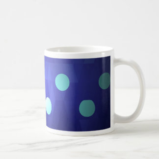 Fun chic big polka dots white vivid deep blue mug