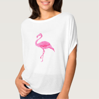 Fun Chic Trendy Pink Flamingo Flowy Tshirt Design