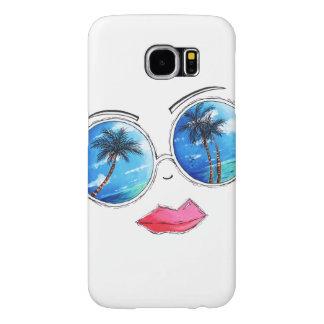 Fun Chic Tropical Beach Sunglasses Phone Case