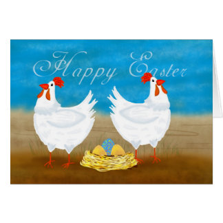 Fun Chicken Easter Greeting Card
