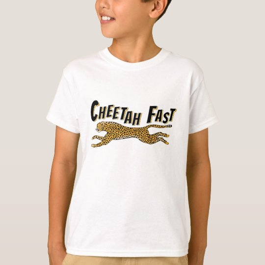 Fun Childrens Wild Animal Cheetah Fast Gift T-Shirt