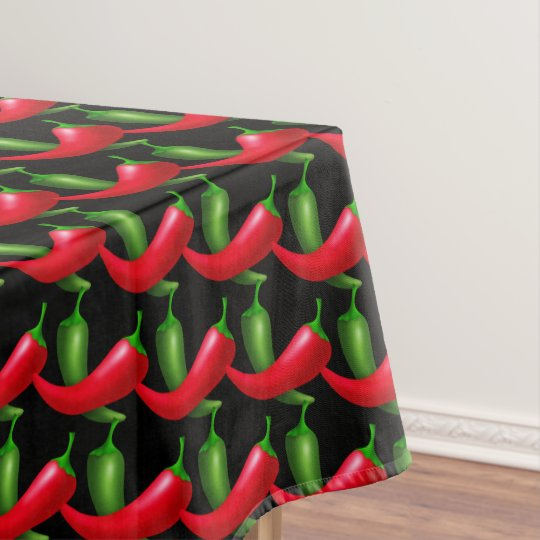 Fun Chilli pepper pattern kitchen tablecloth