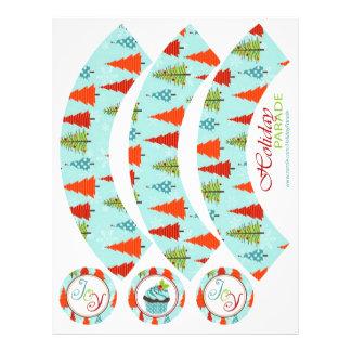 Fun Christmas Cupcake Wrapper Flyer