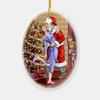 Fun Christmas Family Scene Holiday Ornaments
