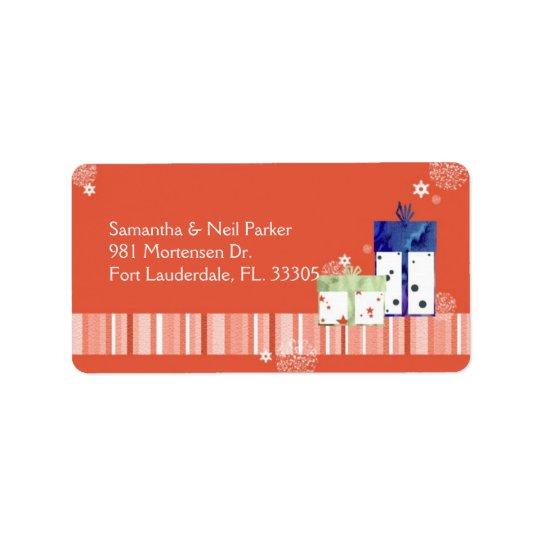 Fun Christmas Gifts Holiday Address Label