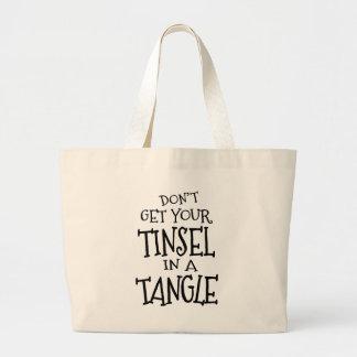Fun Christmas Holiday Tinsel Stresser Jumbo Tote Bag