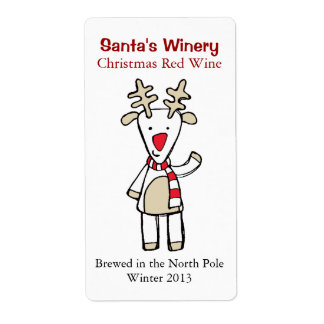 Fun Christmas Home Brewed Wine Labels