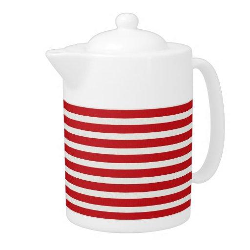 Fun Christmas Nautical Red White Stripes Pattern